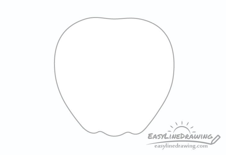 Apple outline drawing