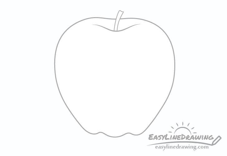 Apple stem drawing