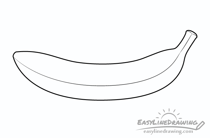 Banana line drawing