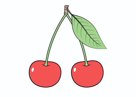 Cherries drawing tutorial