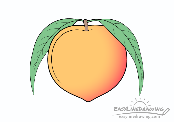 Peach drawing