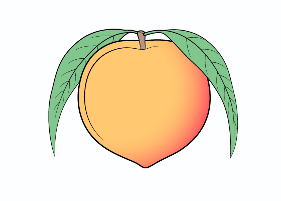 Peach drawing tutorial