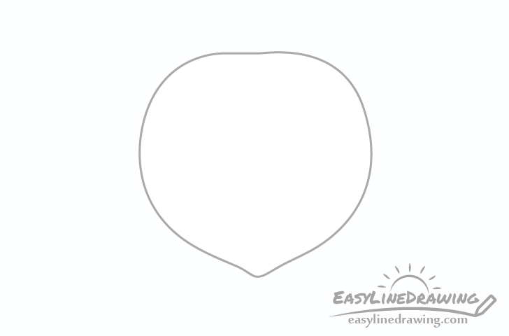 Peach outline drawing