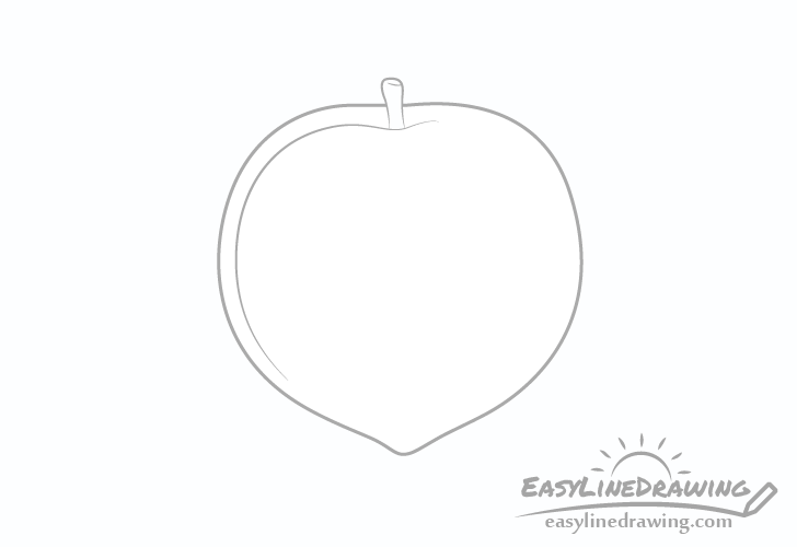 Peach simple line drawing