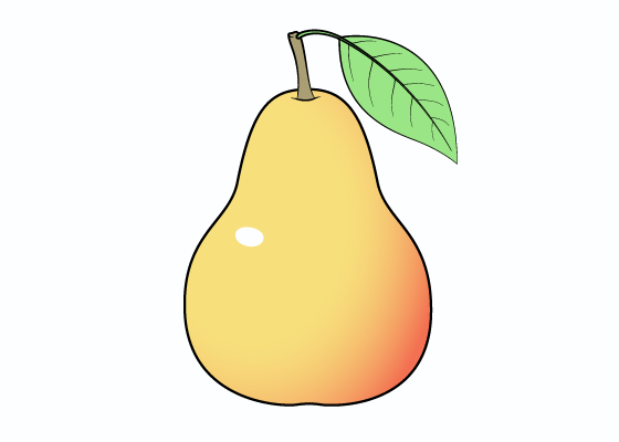 Pear drawing tutorial