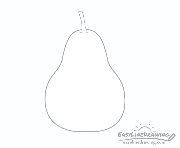 Pear stem drawing