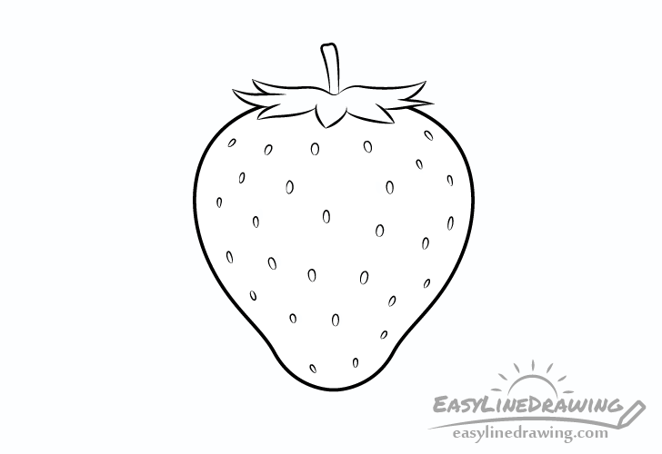 Strawberry line drawing