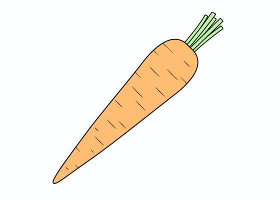 Carrot drawing tutorial