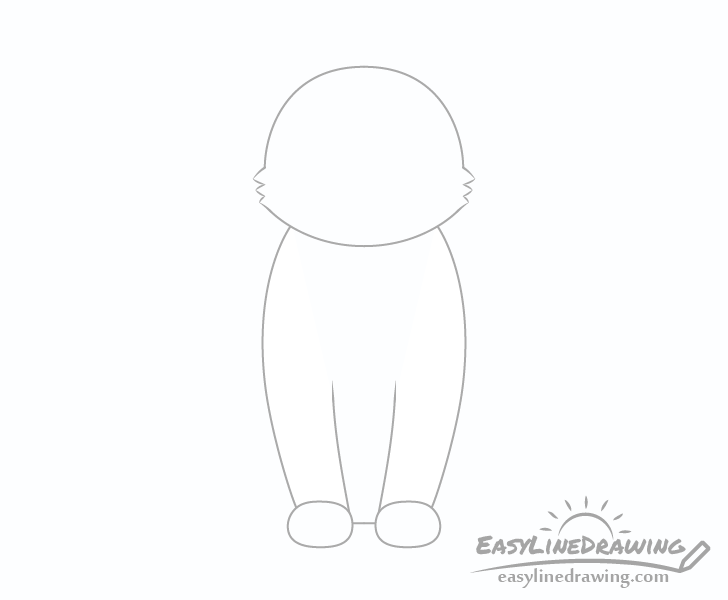 Cat front legs drawing