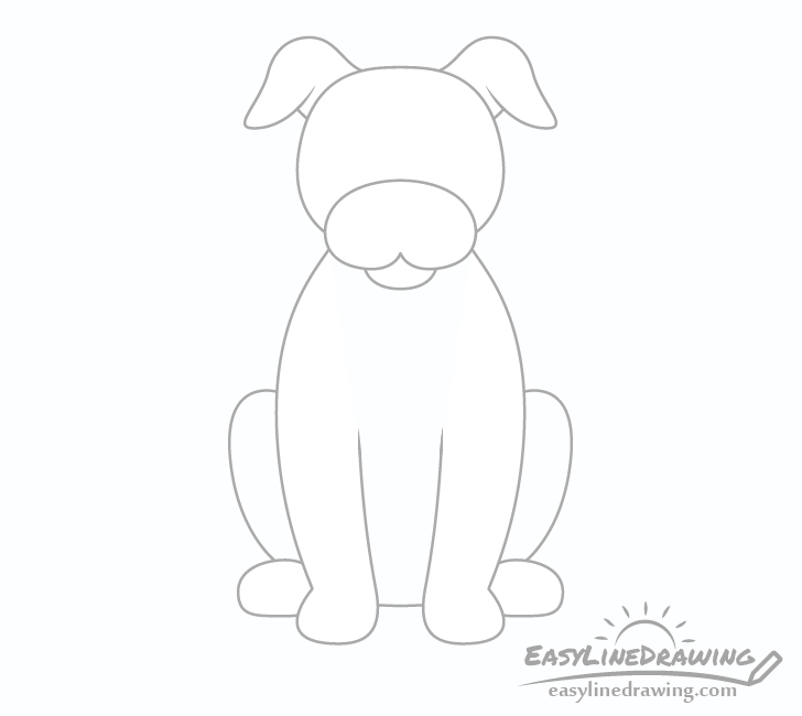 Dog ears drawing