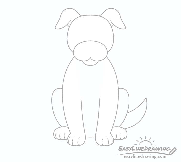 Dog tail and toes drawing