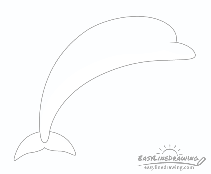 Dolphin tail drawing