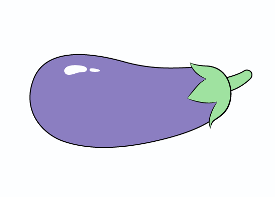 Eggplant drawing tutorial