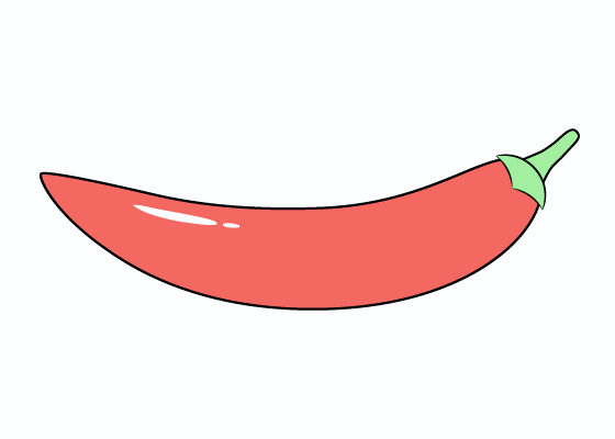 Hot pepper drawing tutorial