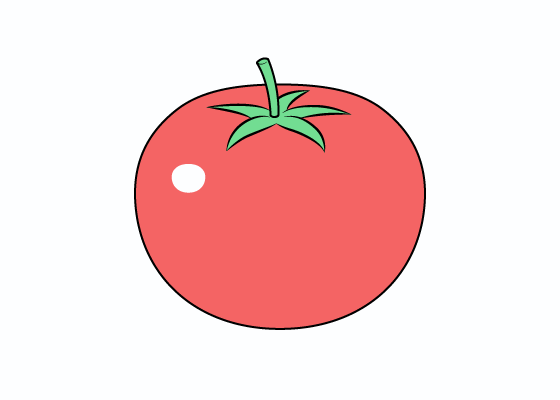 Tomato drawing tutorial