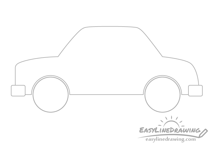 Cartoon car bumper drawing