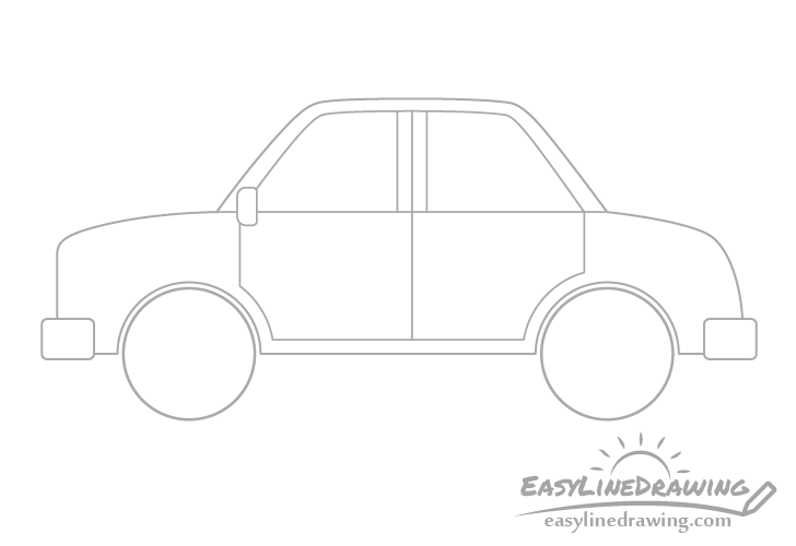 Cartoon car windows drawing
