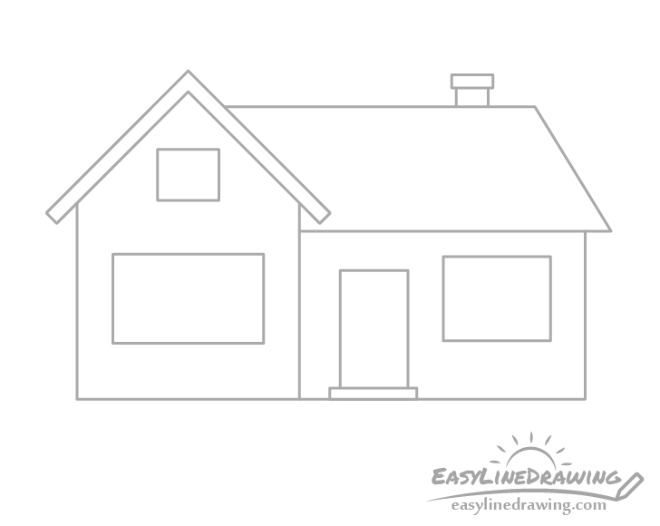 House chimney drawing