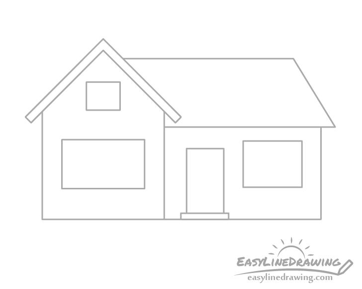 House door drawing