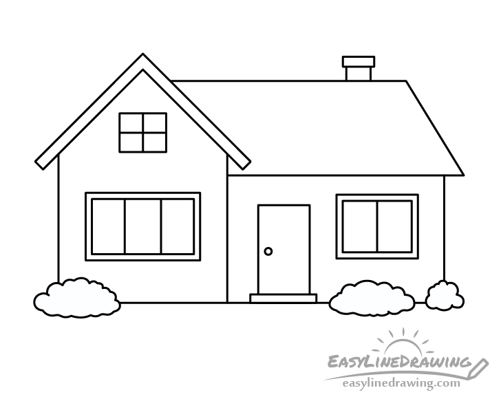 House line drawing