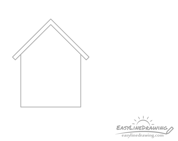 House roof section drawing