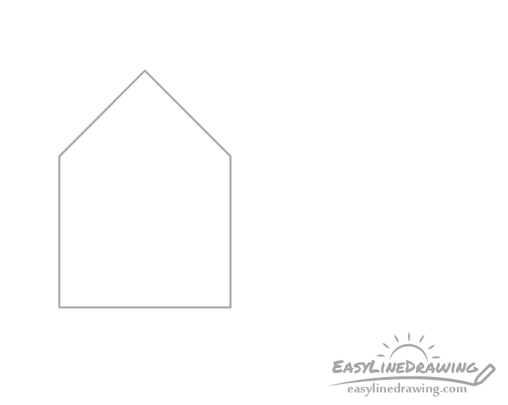 House section drawing