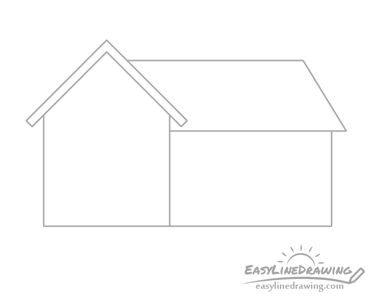 House sections outline drawing