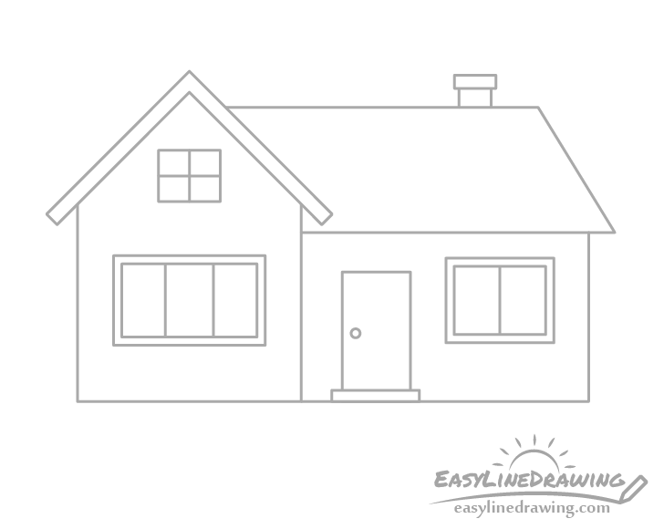 House window frames drawing