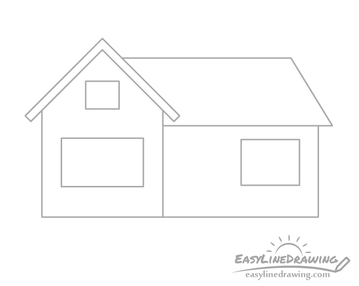 House window outlines drawing