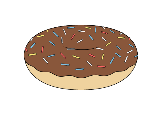 Doughnut drawing tutorial