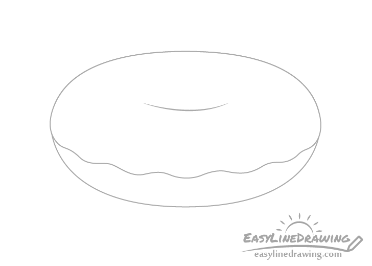 Doughnut icing drawing