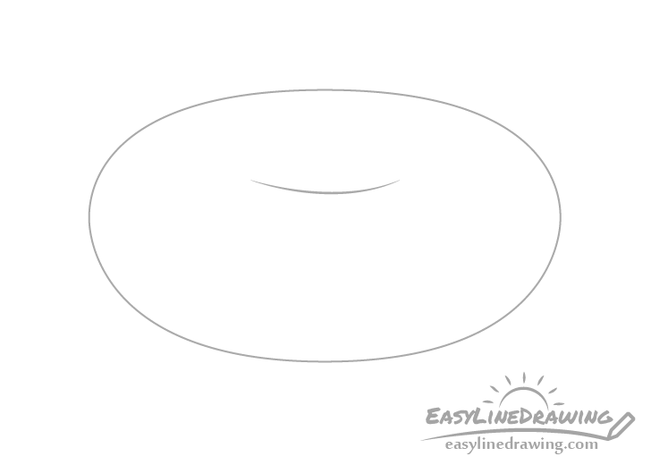 Doughnut outline drawing