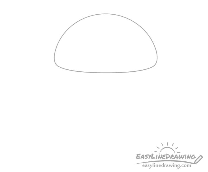 Mushroom cap drawing