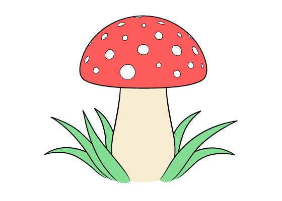 Mushroom Drawing Tutorial