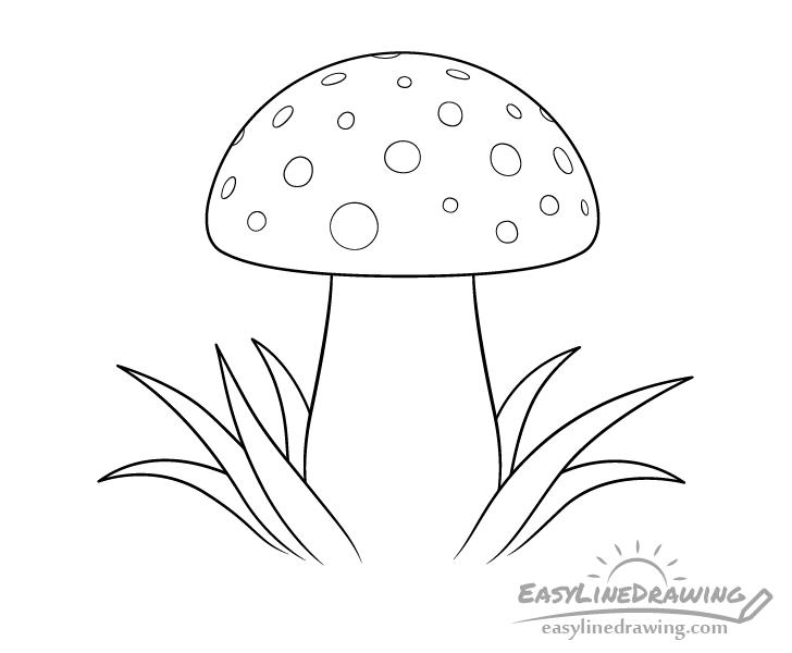 Mushroom line drawing