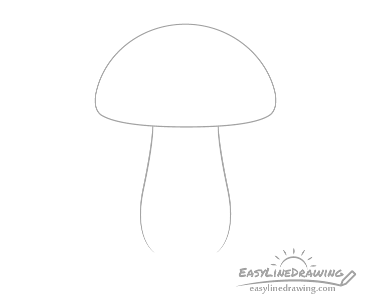 Mushroom outline drawing