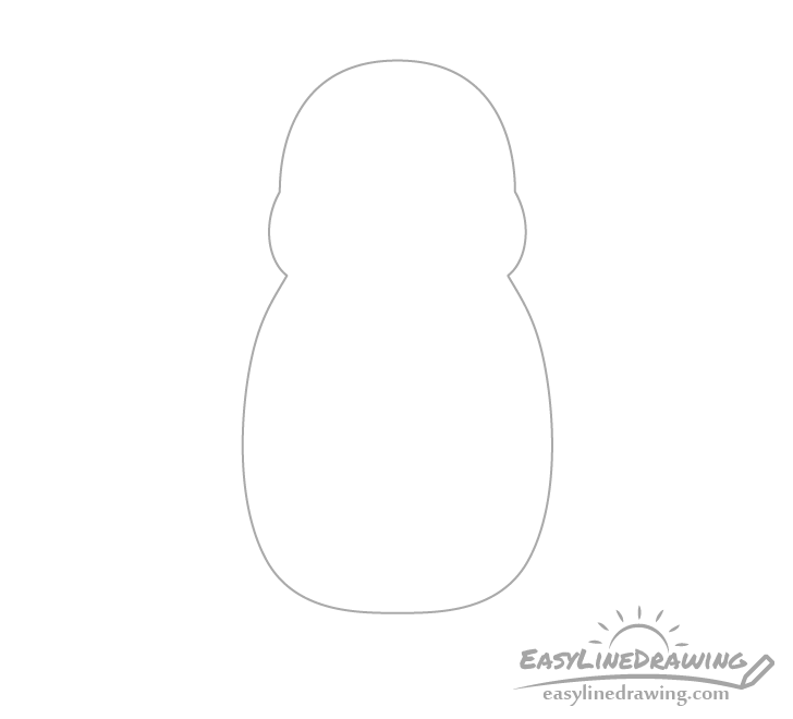 Penguin body outline drawing