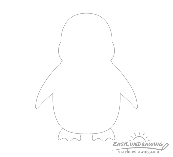 Penguin flippers drawing
