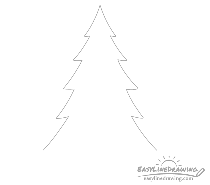 Pine tree shape drawing