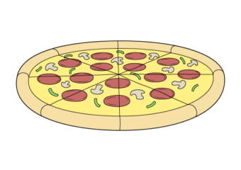 How to Draw a Pizza Step by Step