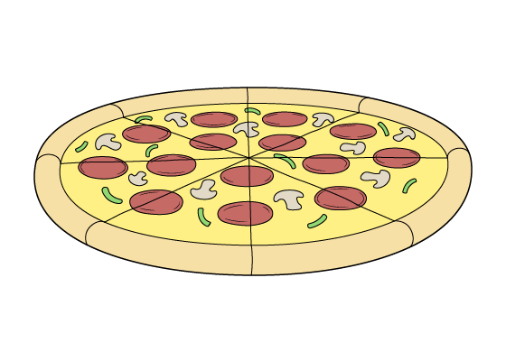 Pizza drawing tutorial