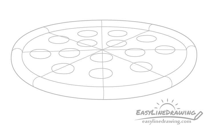 Pizza pepperoni drawing