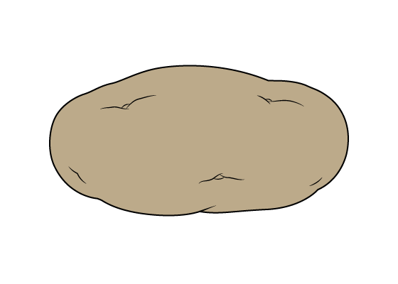 Potato drawing tutorial