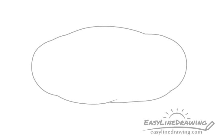 Potato outline drawing