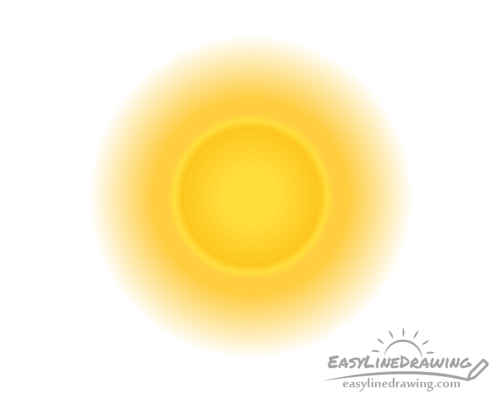 Realistic sun drawing