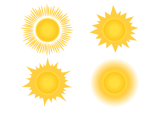 Sun drawing tutorial