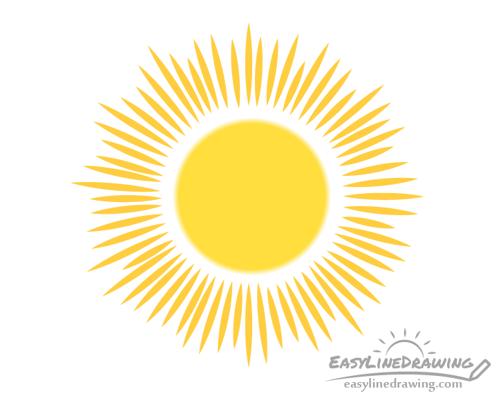 Sun gradient drawing