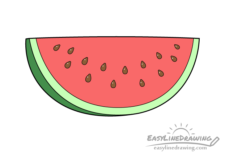 Watermelon slice drawing