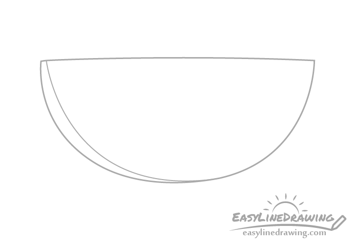 Watermelon slice outline drawing