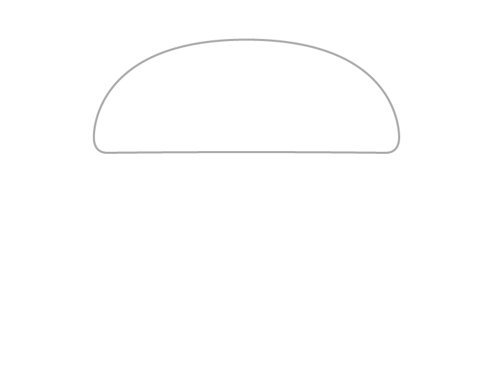 Burger bun top drawing